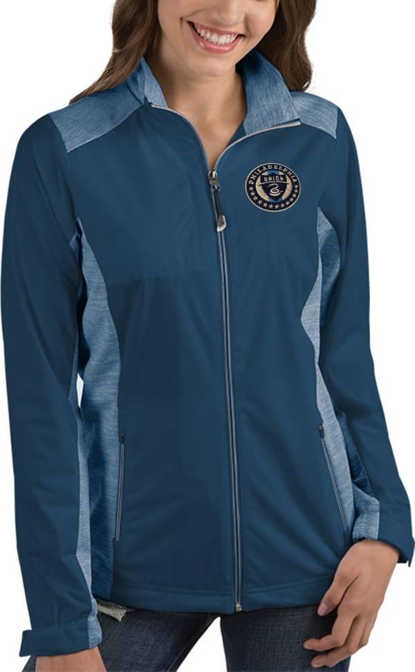 Antigua Women's Philadelphia Union Revolve Navy Full-Zip Jacket product image
