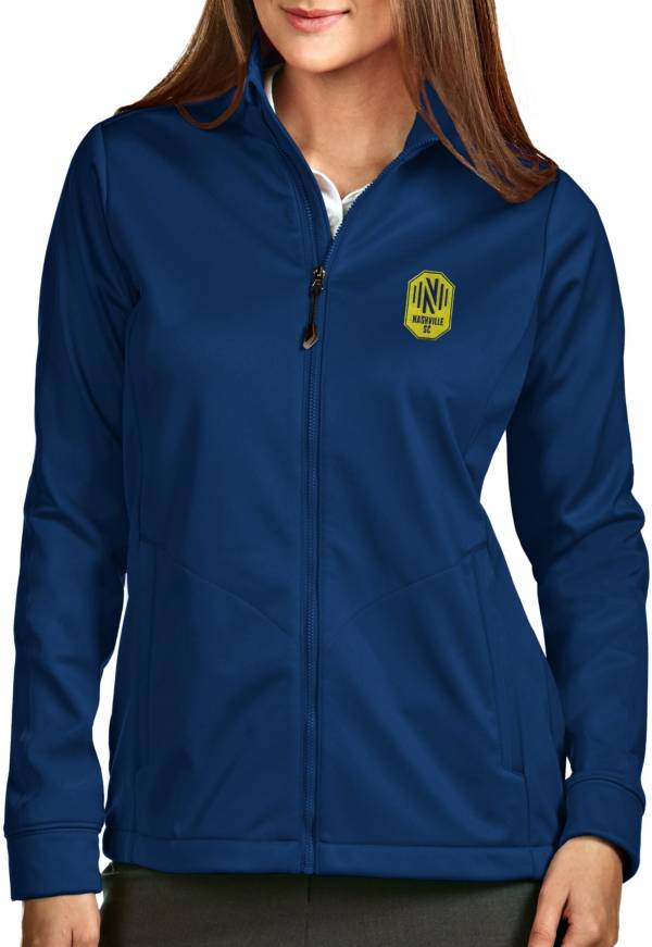 Antigua Women's Nashville SC Golf Navy Full-Zip Jacket product image
