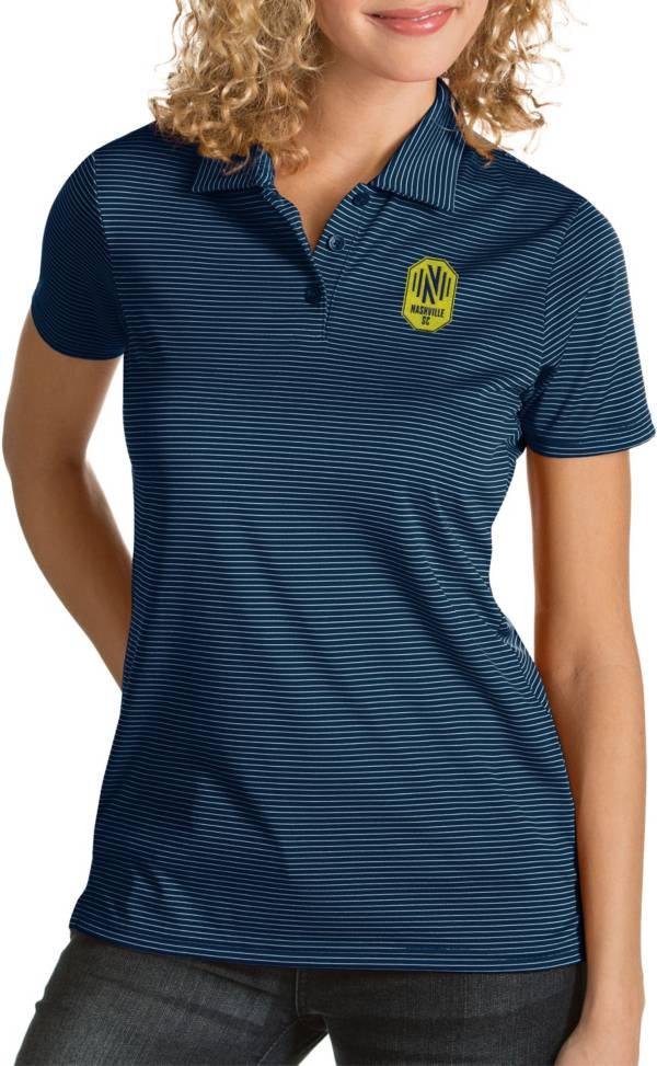 Antigua Women's Nashville SC Quest Navy Polo product image
