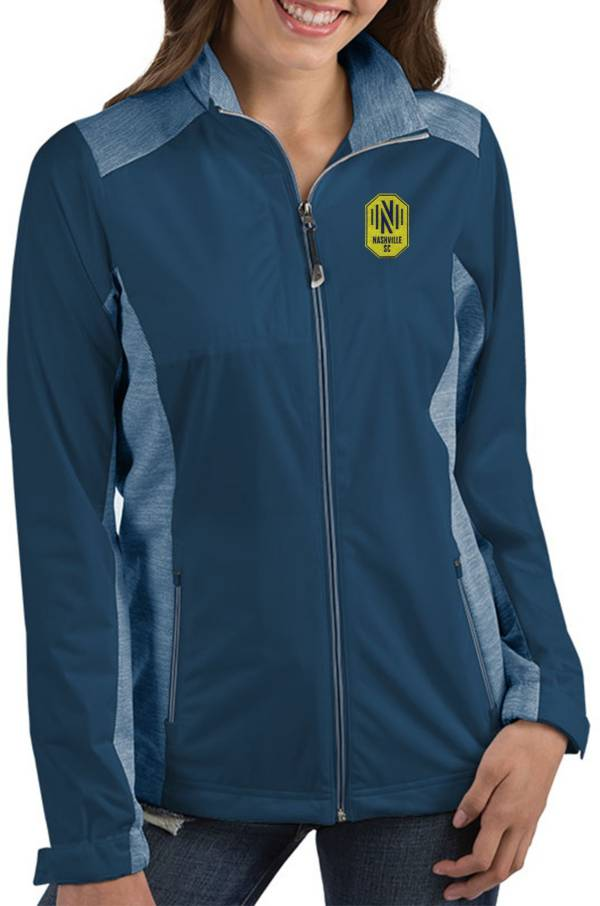 Antigua Women's Nashville SC Revolve Navy Full-Zip Jacket product image