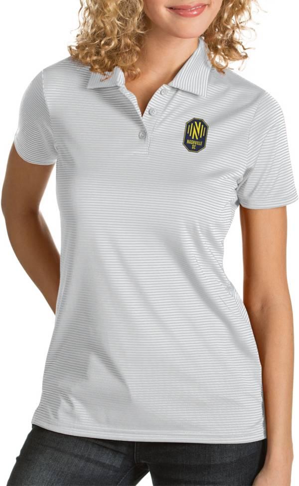 Antigua Women's Nashville SC Quest White Polo product image
