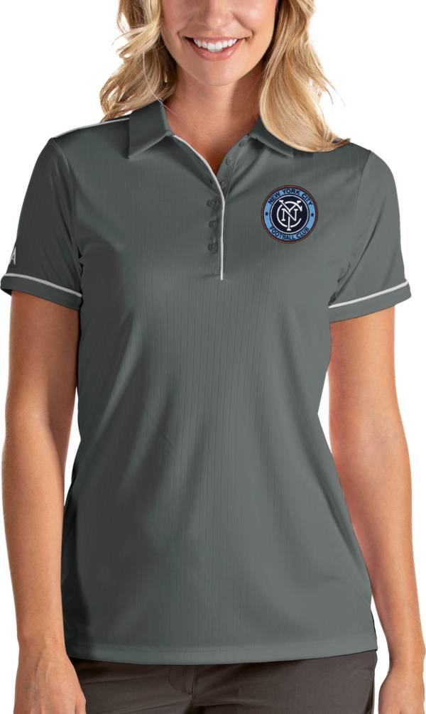 Antigua Women's New York City FC Salute Grey Polo product image