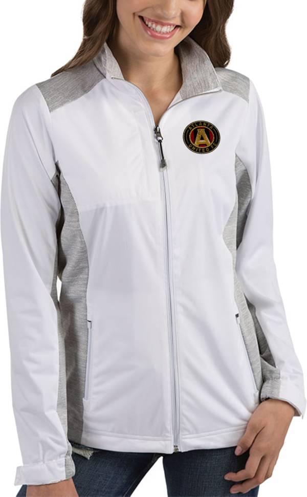Antigua Women's Atlanta United Revolve White Full-Zip Jacket product image