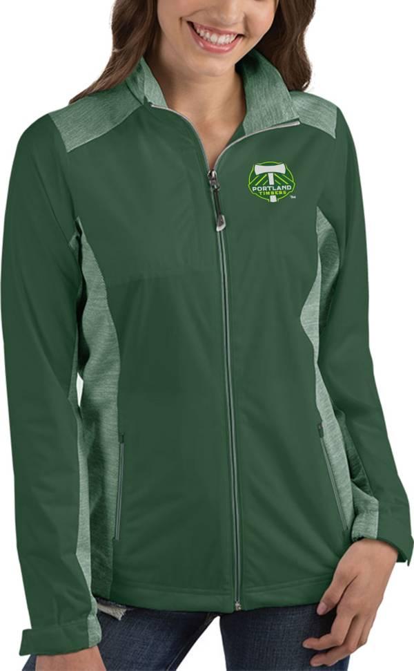 Antigua Women's Portland Timbers Revolve Green Full-Zip Jacket product image