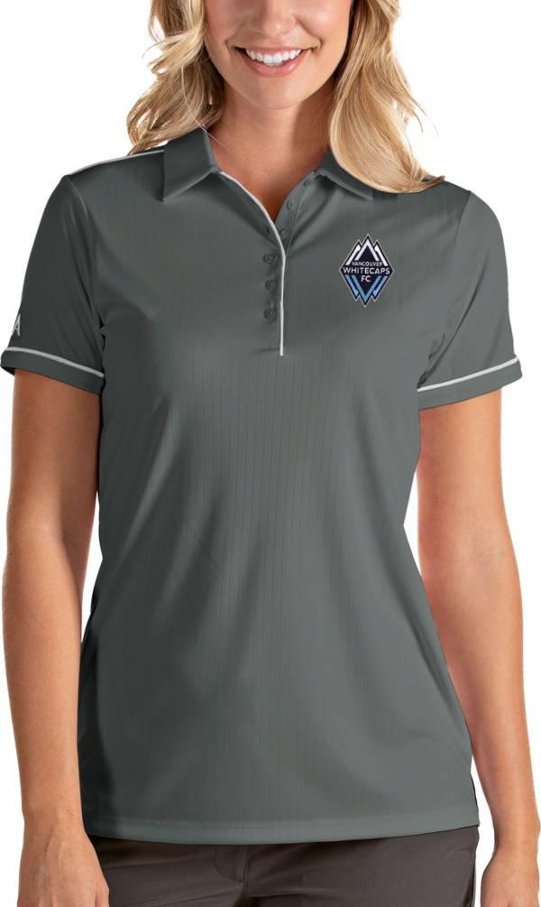 Antigua Women's Vancouver Whitecaps Salute Grey Polo product image
