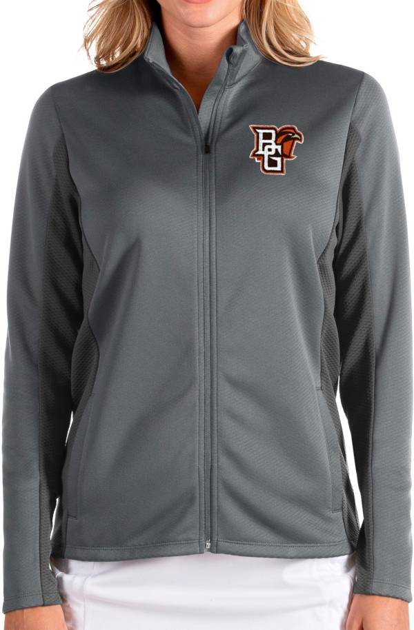 Antigua Women's Bowling Green Falcons Grey Passage Full-Zip Jacket product image