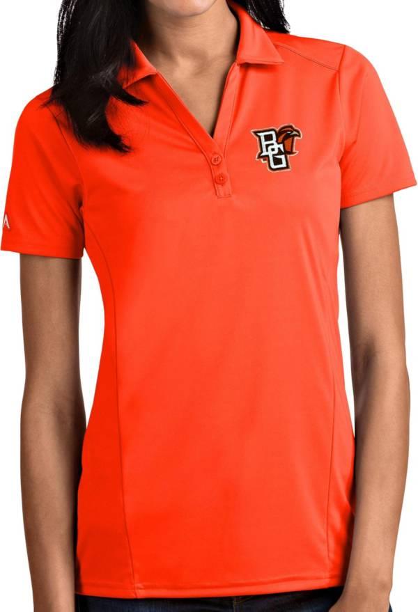 Antigua Women's Bowling Green Falcons Orange Tribute Performance Polo product image