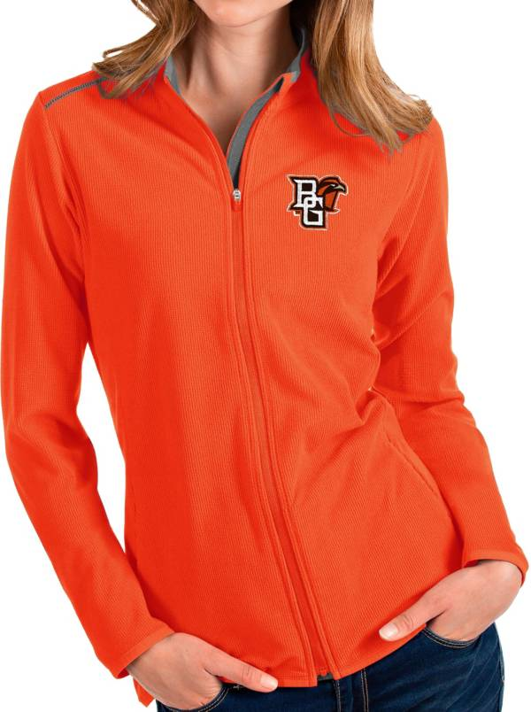 Antigua Women's Bowling Green Falcons Orange Glacier Full-Zip Jacket product image