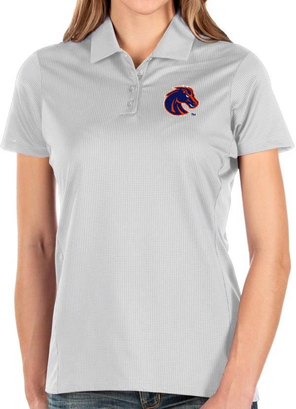 Antigua Women's Boise State Broncos Balance White Polo product image