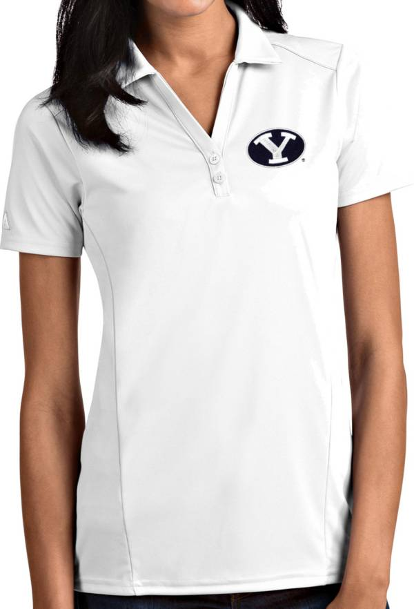 Antigua Women's BYU Cougars Tribute Performance White Polo product image