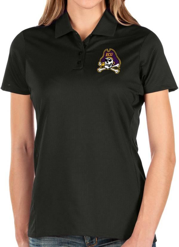 Antigua Women's East Carolina Pirates Balance Black Polo product image