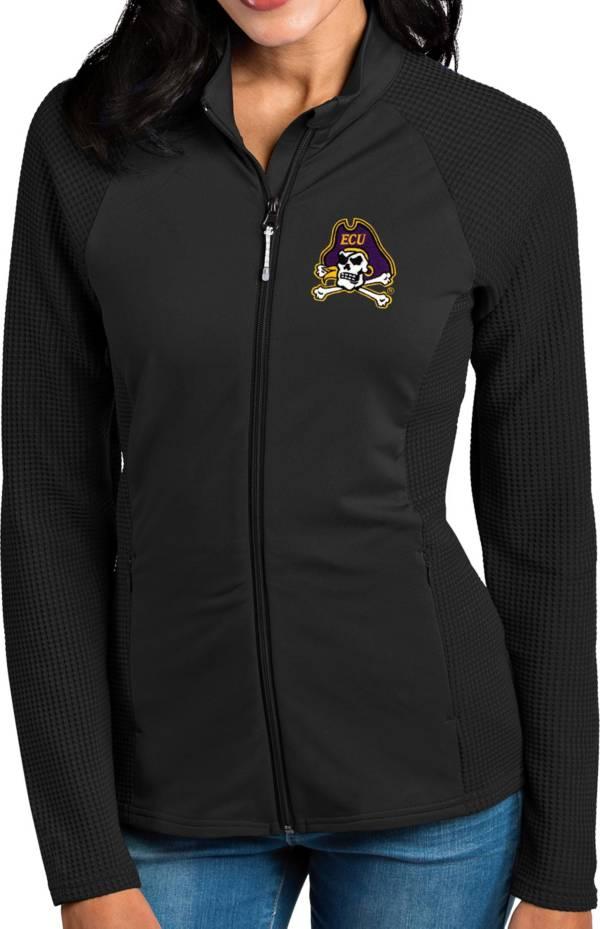 Antigua Women's East Carolina Pirates Black Sonar Full-Zip Performance Jacket product image