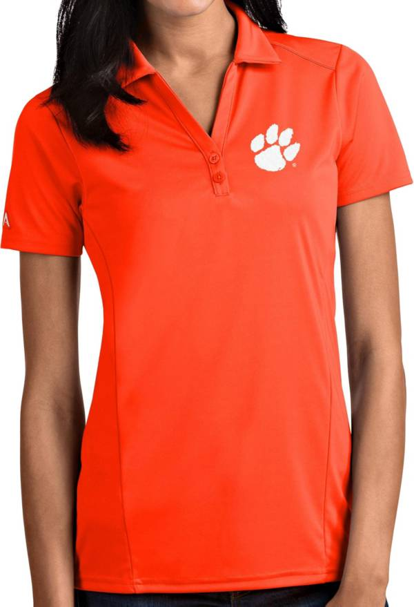 Antigua Women's Clemson Tigers Orange Tribute Performance Polo product image
