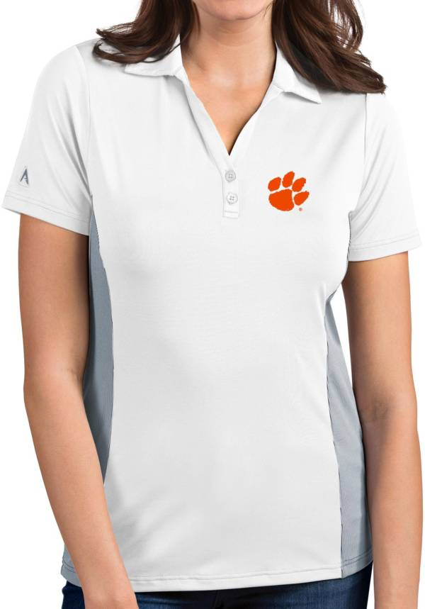 Antigua Women's Clemson Tigers Venture White Polo product image