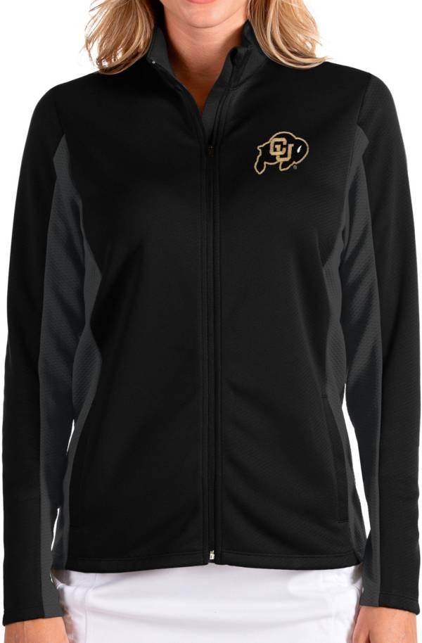 Antigua Women's Colorado Buffaloes Passage Full-Zip Black Jacket product image