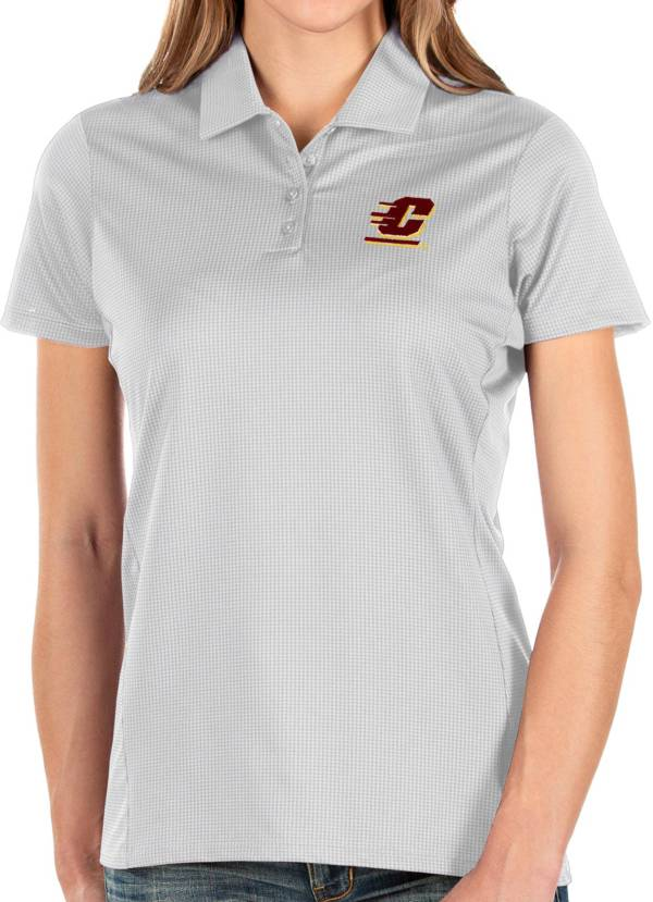 Antigua Women's Central Michigan Chippewas Balance White Polo product image