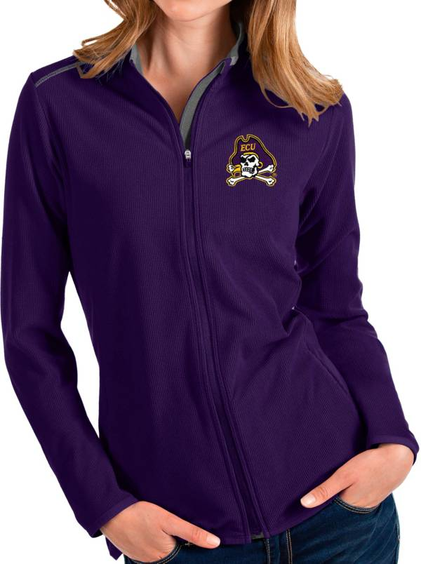 Antigua Women's East Carolina Pirates Purple Glacier Full-Zip Jacket product image