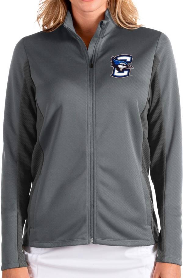 Antigua Women's Creighton Bluejays Grey Passage Full-Zip Jacket product image