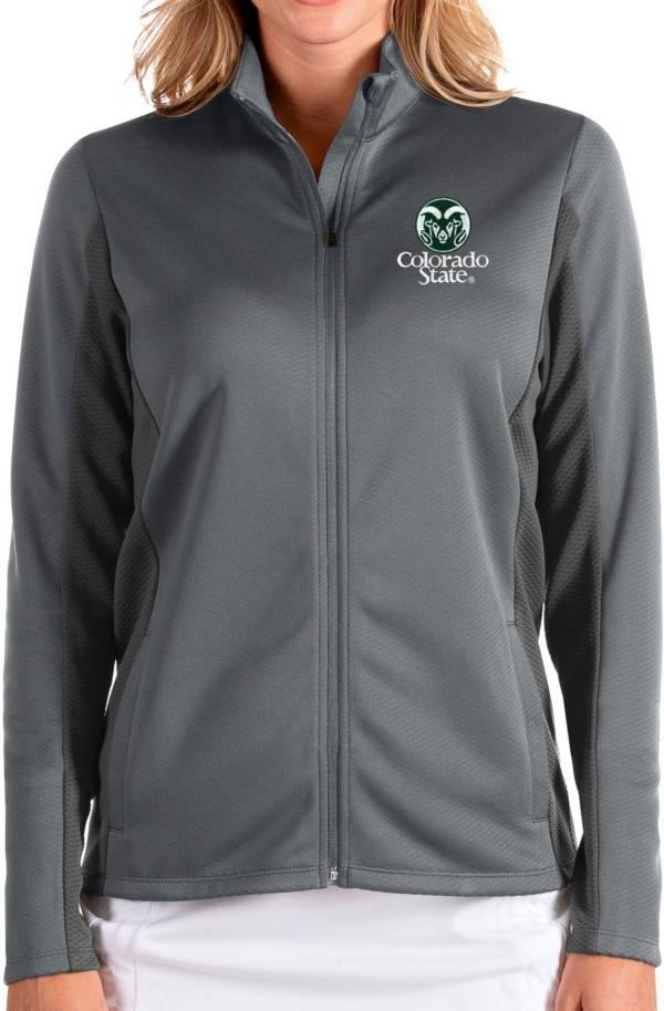 Antigua Women's Colorado State Rams Grey Passage Full-Zip Jacket product image