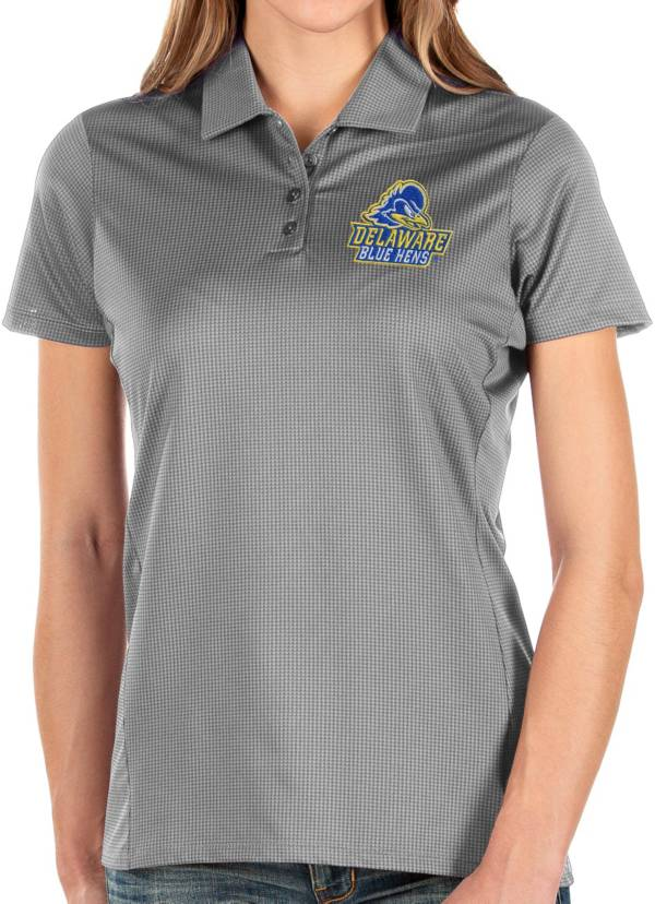Antigua Women's Delaware Fightin' Blue Hens Grey Balance Polo product image