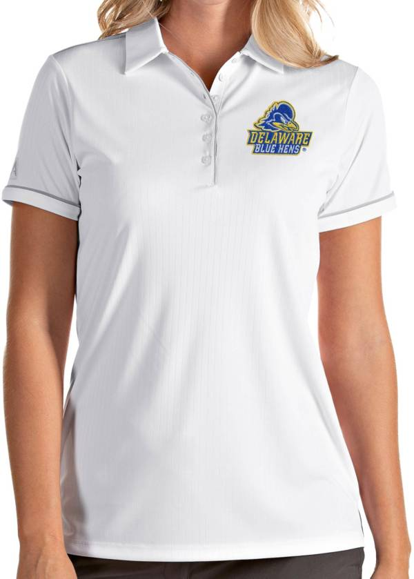 Antigua Women's Delaware Fightin' Blue Hens Salute Performance White Polo product image