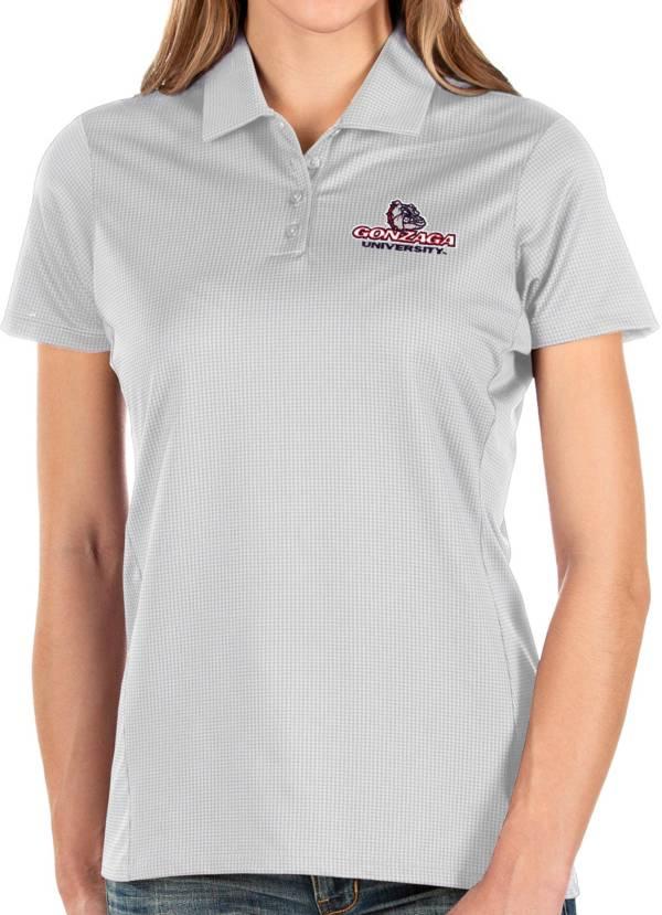 Antigua Women's Gonzaga Bulldogs Balance White Polo product image