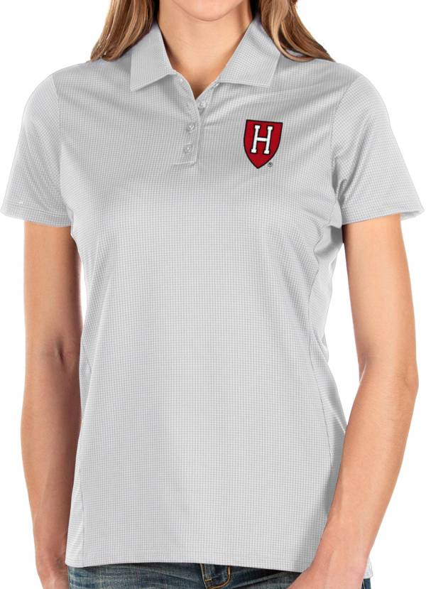 Antigua Women's Harvard Crimson Balance White Polo product image