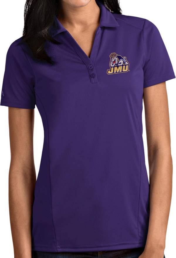 Antigua Women's James Madison Dukes Purple Tribute Performance Polo product image