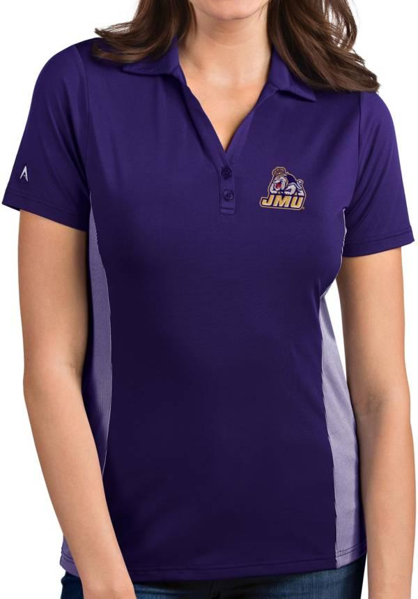 Antigua Women's James Madison Dukes Purple Venture Polo product image