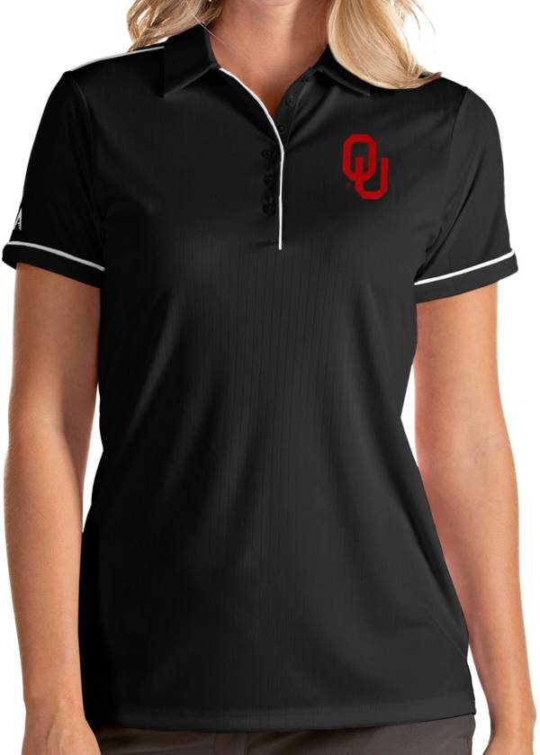 Antigua Women's Oklahoma Sooners Salute Performance Black Polo product image