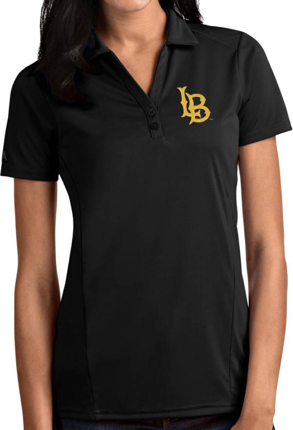 Antigua Women's Long Beach State 49ers Black Tribute Performance Polo product image