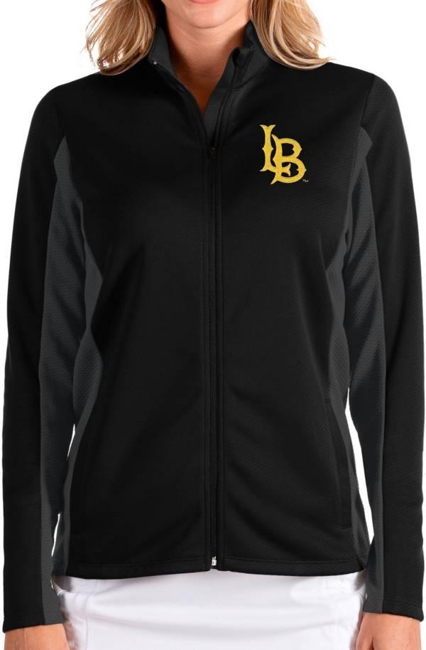 Antigua Women's Long Beach State 49ers Passage Full-Zip Black Jacket product image