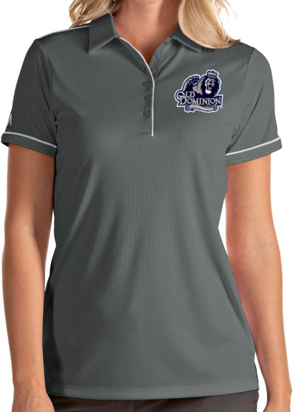 Antigua Women's Old Dominion Monarchs Grey Salute Performance Polo product image