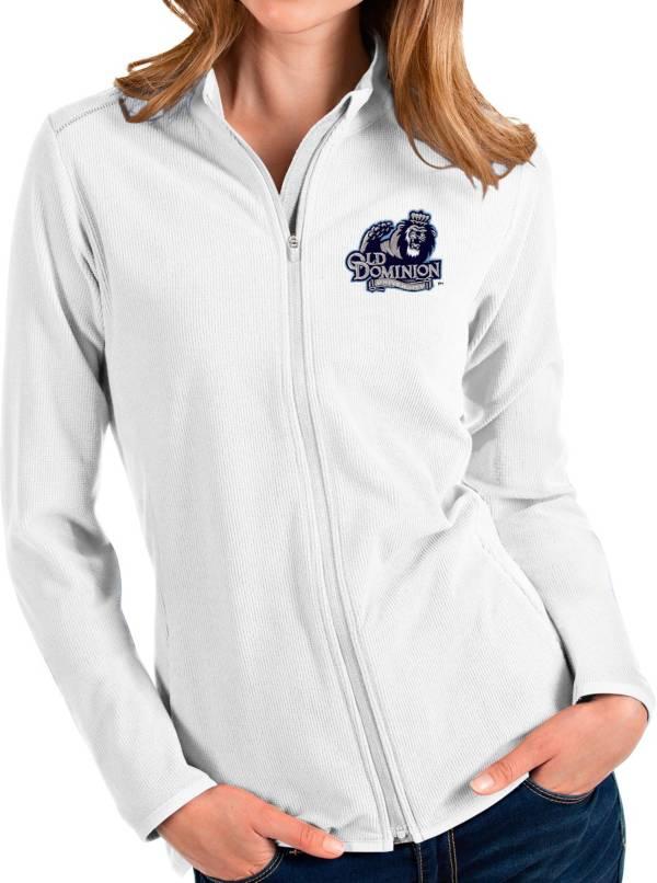 Antigua Women's Old Dominion Monarchs Glacier Full-Zip White Jacket product image
