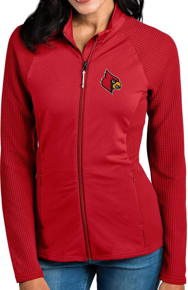Antigua Women's Louisville Cardinals Cardinal Red Sonar Full-Zip Performance Jacket product image