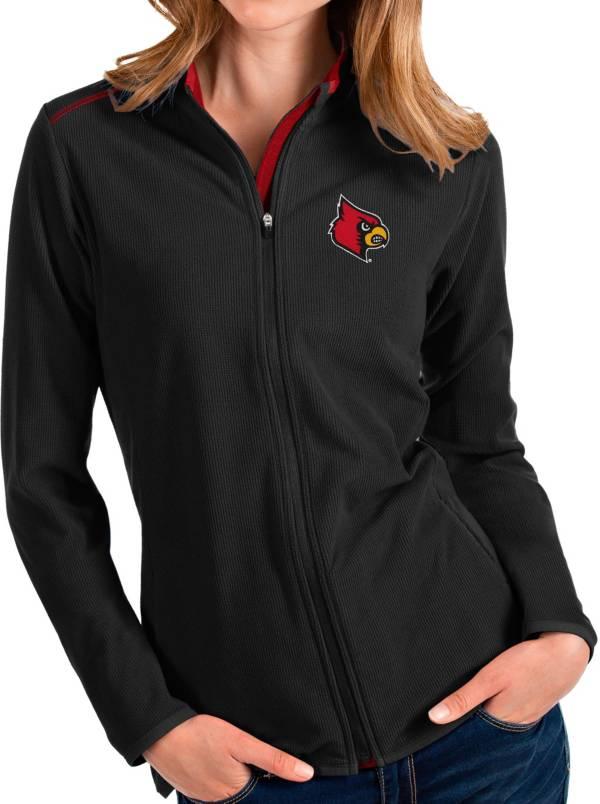 Antigua Women's Louisville Cardinals Glacier Full-Zip Black Jacket product image