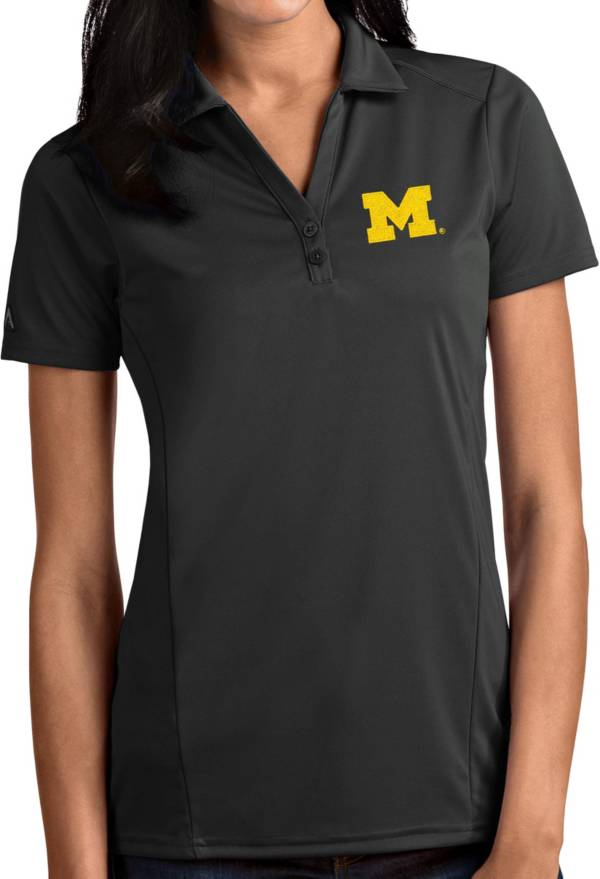Antigua Women's Michigan Wolverines Grey Tribute Performance Polo product image