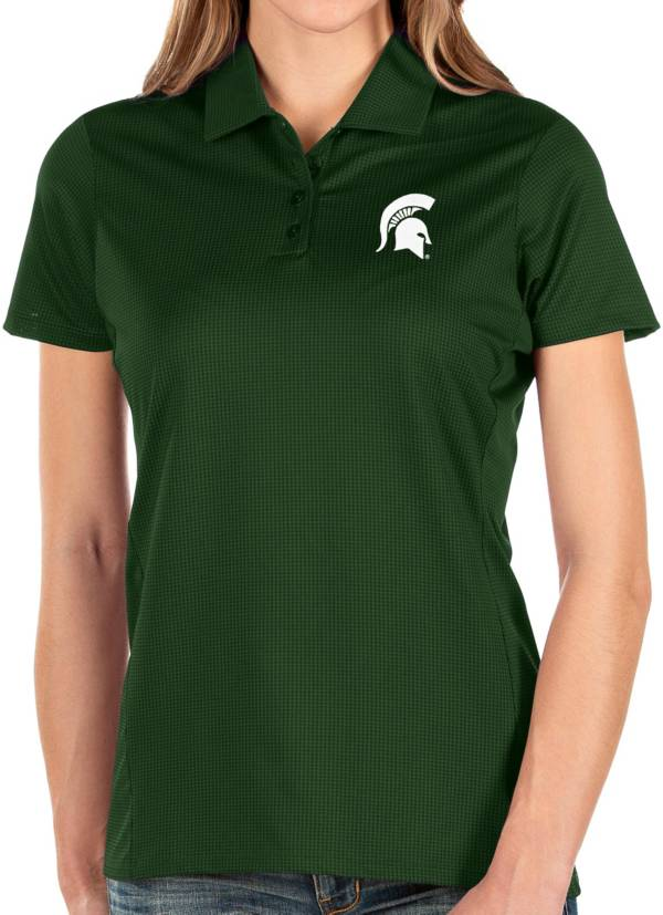 Antigua Women's Michigan State Spartans Green Balance Polo product image