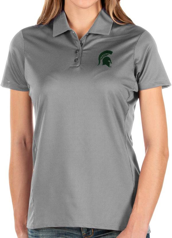 Antigua Women's Michigan State Spartans Grey Balance Polo product image