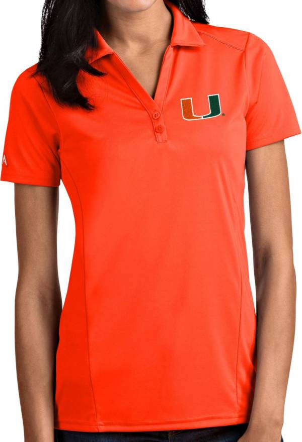 Antigua Women's Miami Hurricanes Orange Tribute Performance Polo product image