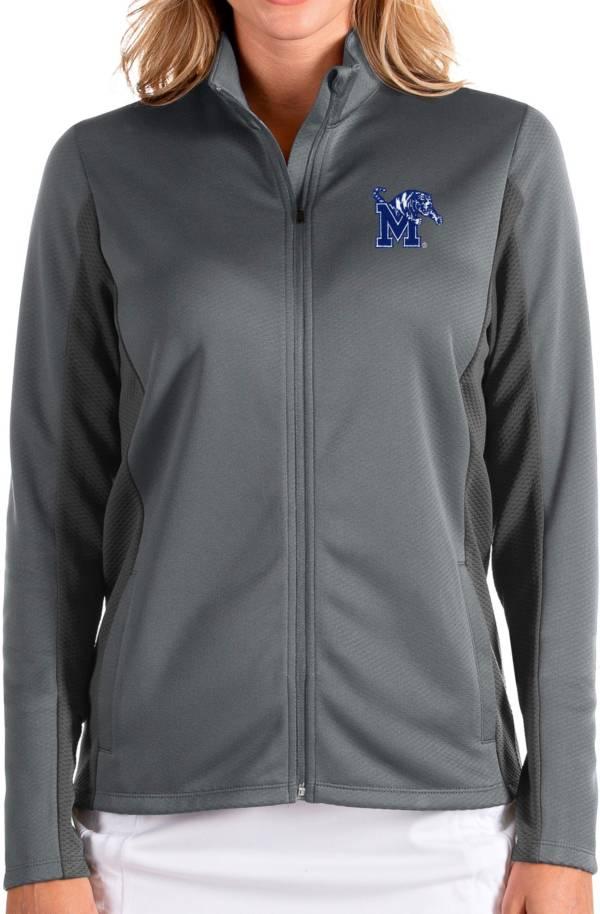Antigua Women's Memphis Tigers Grey Passage Full-Zip Jacket product image