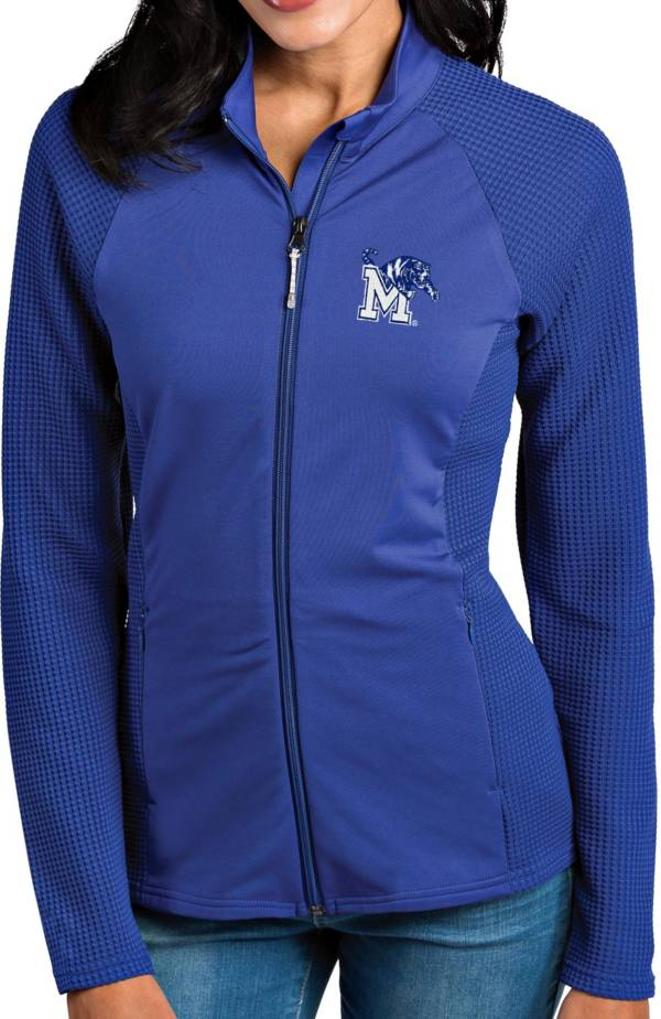 Antigua Women's Memphis Tigers Blue Sonar Full-Zip Performance Jacket product image