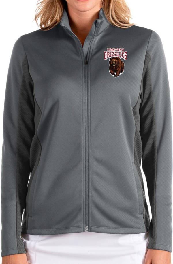 Antigua Women's Montana Grizzlies Grey Passage Full-Zip Jacket product image
