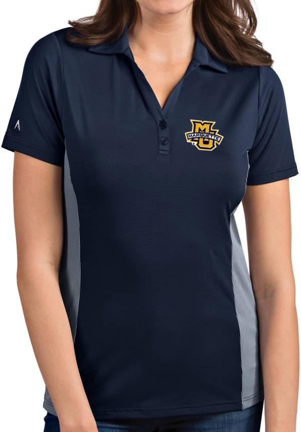 Antigua Women's Marquette Golden Eagles Blue Venture Polo product image