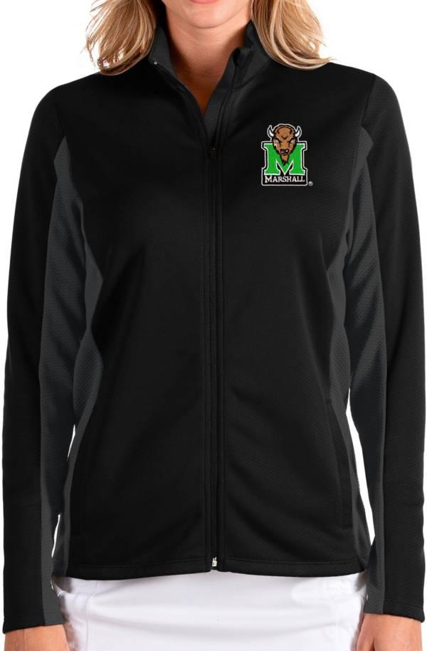 Antigua Women's Marshall Thundering Herd Passage Full-Zip Black Jacket product image