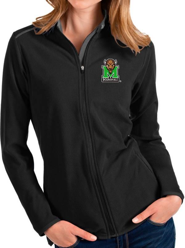 Antigua Women's Marshall Thundering Herd Glacier Full-Zip Black Jacket product image