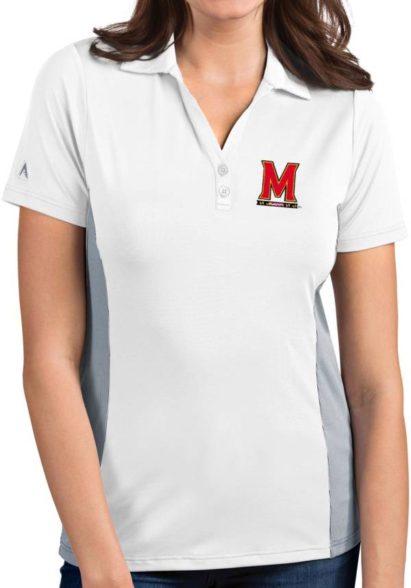 Antigua Women's Maryland Terrapins Venture White Polo product image