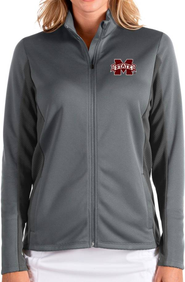 Antigua Women's Mississippi State Bulldogs Grey Passage Full-Zip Jacket product image