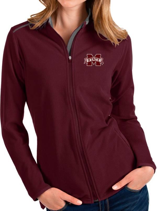 Antigua Women's Mississippi State Bulldogs Maroon Glacier Full-Zip Jacket product image
