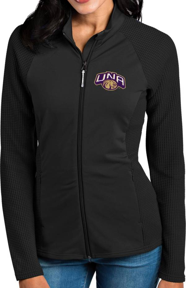 Antigua Women's North Alabama  Lions Black Sonar Full-Zip Performance Jacket product image